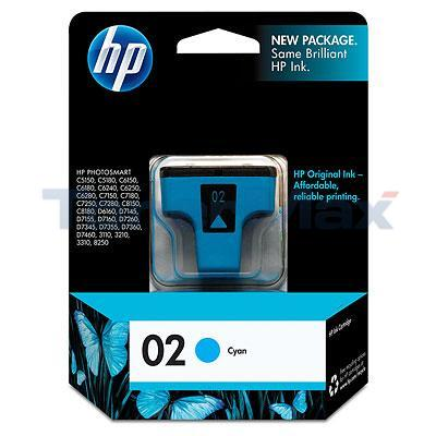 HP NO 02 INK CYAN 